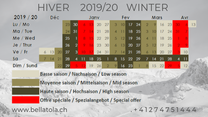 Winter season 2019-2020